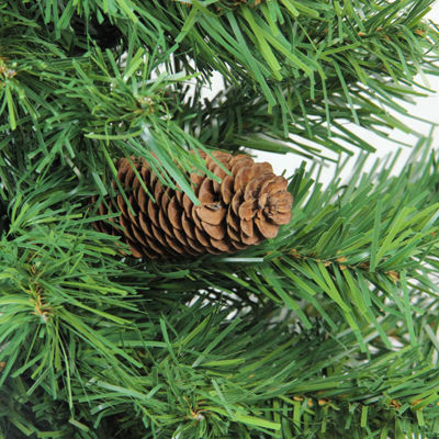 "3' x 22"" Dakota Red Pine Full Artificial ChristmasTree with Pine Cones - Unlit"