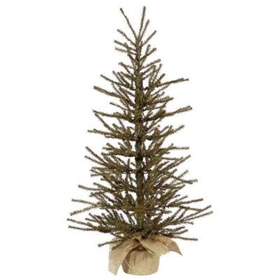 "3' x 18"" Vienna Twig Artificial Christmas Tree In Burlap Base - Unlit"""