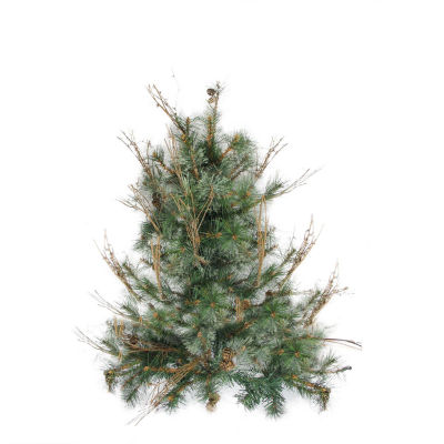 """2' x 18"""" Country Mixed Pine Artificial Christmas Wall or Door Tree - Unlit"""""""