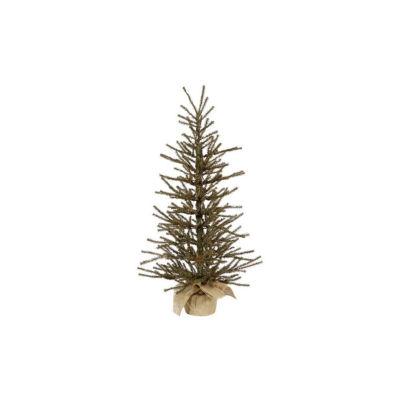 "18"" x 12"" Vienna Twig Artificial Christmas Tree In Burlap Base - Unlit"""