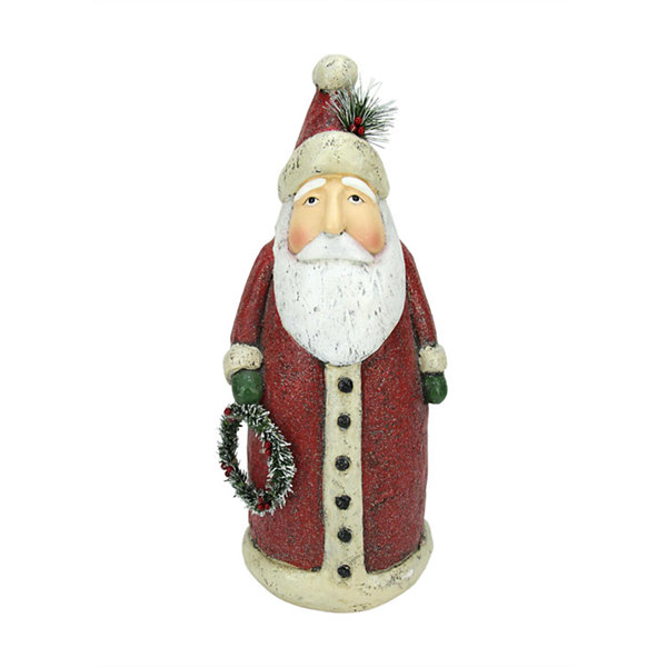 "17"" Battery Operated LED Lighted Santa Claus Christmas Table Top Decoration"""