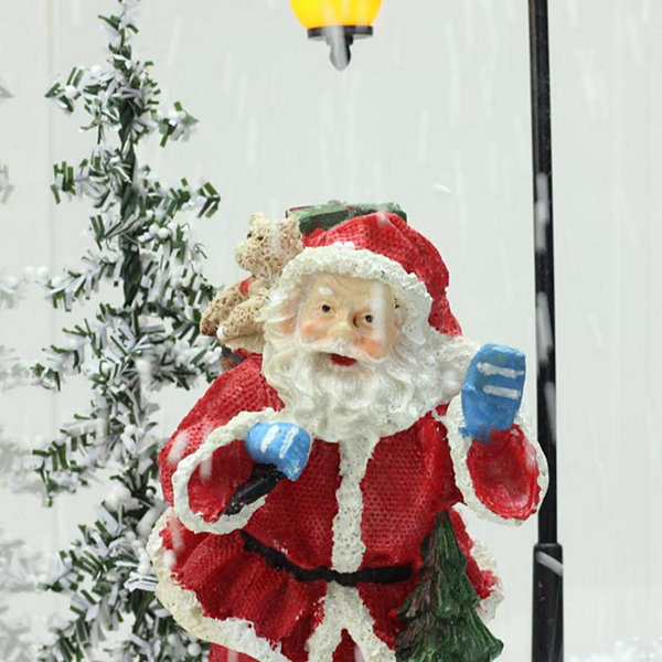 "16.25"" Lighted Musical Santa Claus Snowing Christmas Table Top Snow Dome"""