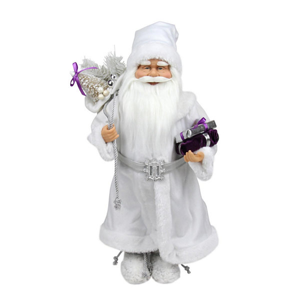 "18.25"" Snowy Winter Santa Claus with Presents Christmas Decoration"""