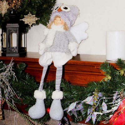 "21"" Sitting Boy Angel with Dangling Legs and Owl Hat Tabletop Decoration"""