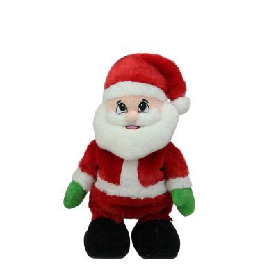 "12"" Animated Tickle 'n Laugh Santa Claus Plush Christmas Figure"""