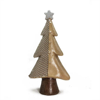 "18"" Brown Textured Eco-Friendly Christmas Tree Tabletop Figure"""