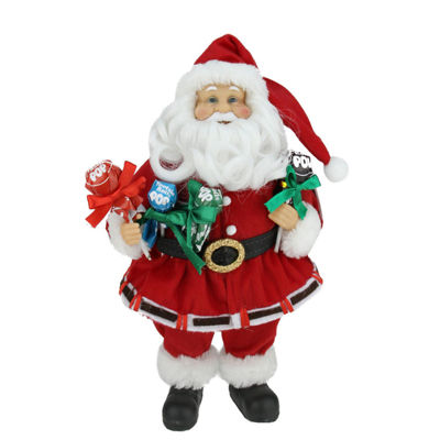 "12"" Santa Claus Holding Tootsie Pops Christmas Tabletop Decoration"""