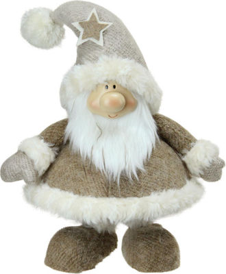"14.5"" Plush and Portly Champagne Bobble Action Gnome Christmas Tabletop Figure"""
