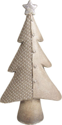 """15"""" Brown Textured Eco-Friendly Christmas Tree Tabletop Figure"""""""