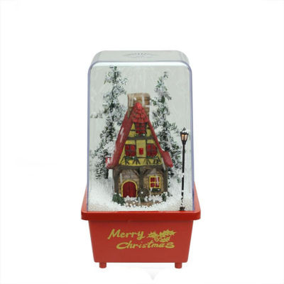 """11.5"""" Lighted Musical Snowing House Christmas Table Top Snow Dome"""""""