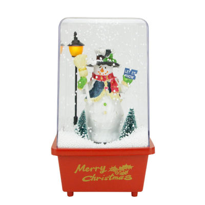 "11.5"" Musical ""Let it Snow"" Snowman Christmas Snow Globe Glitterdome"""