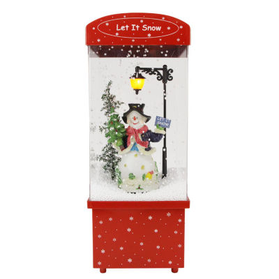 "16.25"" Lighted Musical ""Let it Snow"" Snowman Snowing Christmas Snow Dome"""
