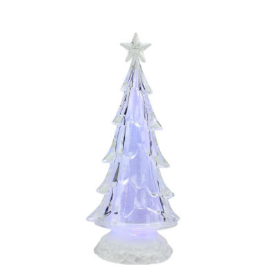 """11"""" LED Lighted Multi-Color Tree with Star Topper Christmas Decoration"""