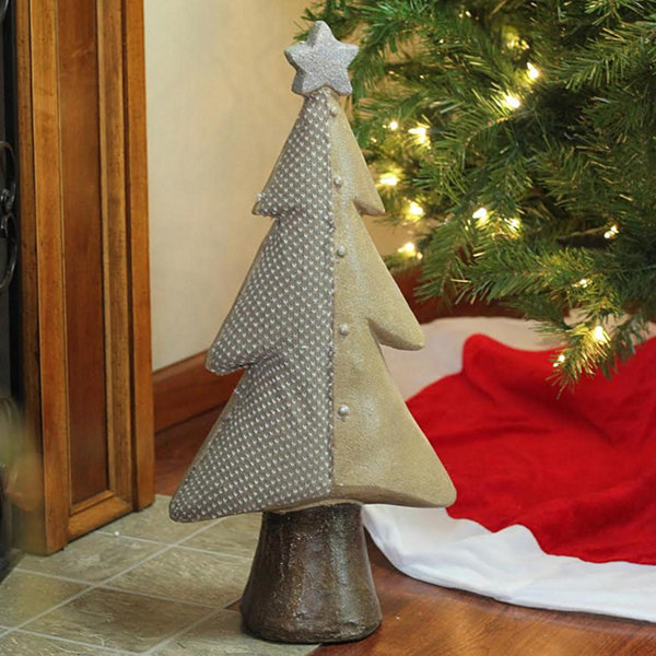 "24"" Brown Textured Eco-Friendly Christmas Tree Tabletop Figure"""