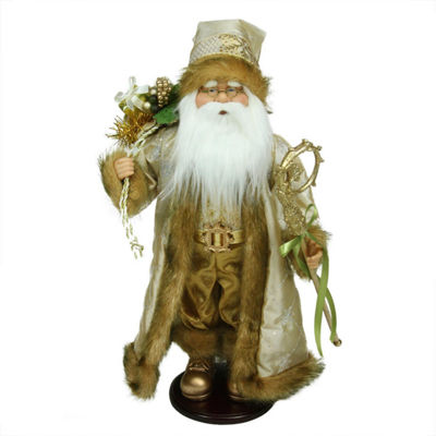 "18.25"" Winter Light Santa Claus with Jacquard Jacket Christmas Decoration"""