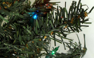 2' Pre-Lit Canadian Pine Artificial Christmas Tree- Multi Lights