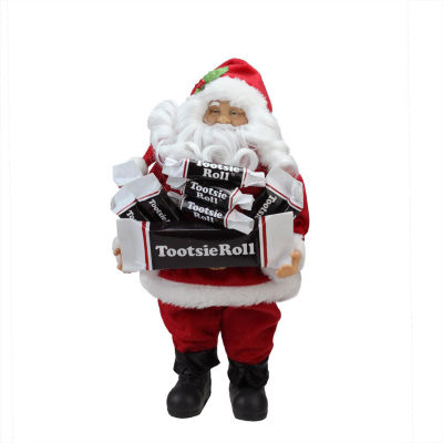 """12"""" Santa Claus with Arms Full of Tootsie Rolls Christmas Tabletop Decoration"""""""