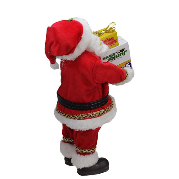 "12"" Santa Claus Carrying Boxes of Dots  Junior Mints  and Sugar Daddy Decoration"""