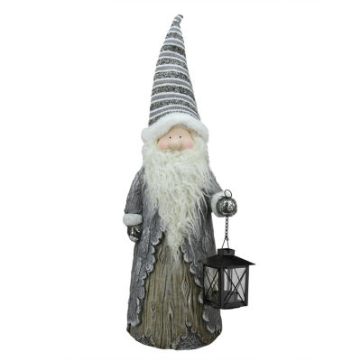 "27"" Country Rustic Santa with Lantern Christmas Table Top Decoration"""