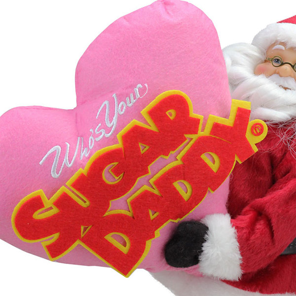 "12"" Santa Claus ""Who's Your Sugar Daddy"" Christmas Tabletop Decoration"""