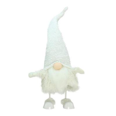 "24"" Pure White ""Sparkling Saul"" Gnome Christmas Tabletop Decoration"""