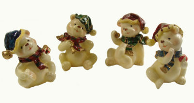 """Club Pack of 120 Classic Christmas Bear Figures 4"""""""