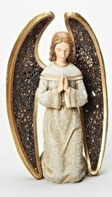 "8"" Joseph's Studio Praying Angel with Mosaic Wings Table Top Christmas Decoration"""