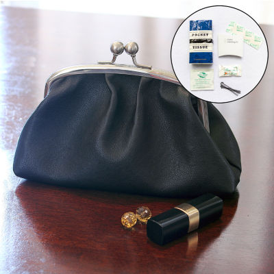 Cathy's Concepts Personalized Vintage Clutch with Survival Kit