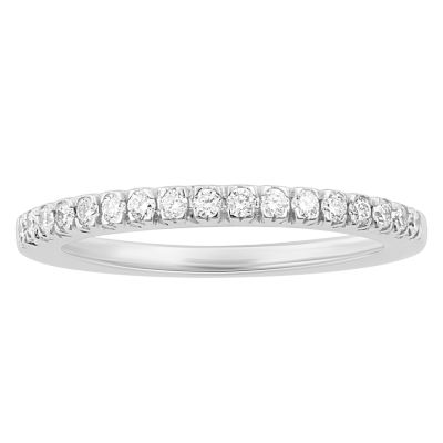 Enchanted By Disney Womens 1/4 CT. T.W. Genuine White Diamond 14K Gold Wedding Band