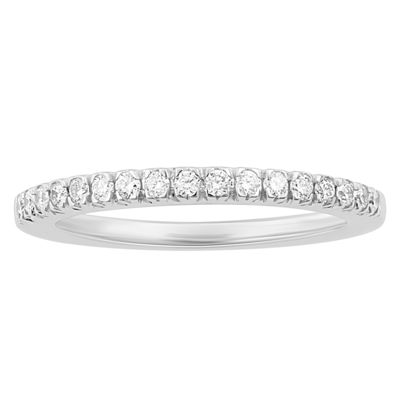 Enchanted Disney Fine Jewelry Womens 1/4 CT. T.W. White Diamond 14K Gold Wedding Band