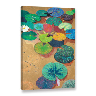 Brushstone White Lily Gallery Wrapped Canvas WallArt