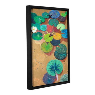Brushstone White Lily Gallery Wrapped Floater-Framed Canvas Wall Art