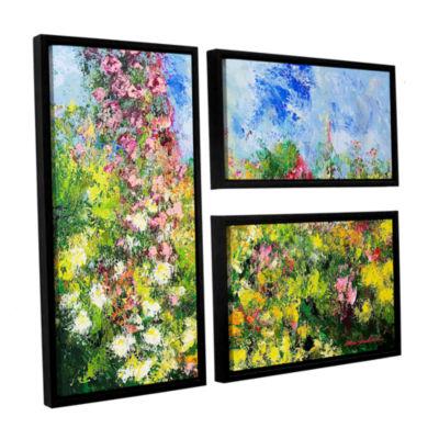 Brushstone Wild Sweetness 3-pc. Flag Floater Framed Canvas Wall Art