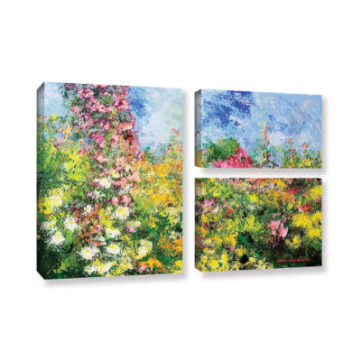 Brushstone Wild Sweetness 3-pc. Flag Gallery Wrapped Canvas Wall Art