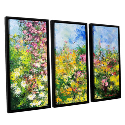 Brushstone Wild Sweetness 3-pc. Floater Framed Canvas Wall Art