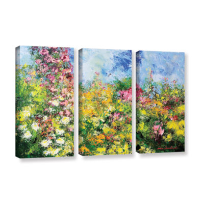Brushstone Wild Sweetness 3-pc. Gallery Wrapped Canvas Wall Art