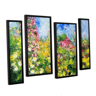 Brushstone Wild Sweetness 4-pc. Floater Framed Staggered Canvas Wall Art