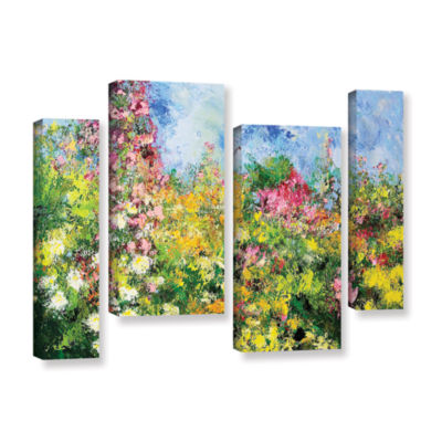 Brushstone Wild Sweetness 4-pc. Gallery Wrapped Staggered Canvas Wall Art
