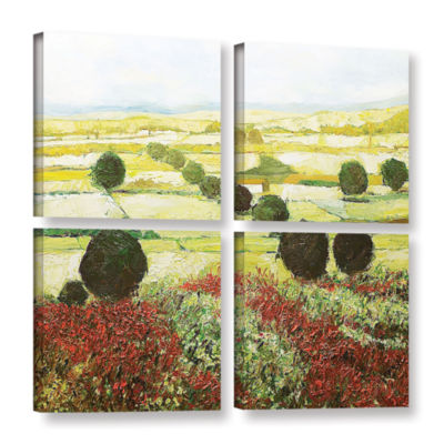 Brushstone Wildflower Valley 4-pc. Square GalleryWrapped Canvas Wall Art