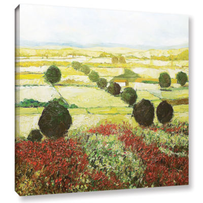 Brushstone Wildflower Valley Gallery Wrapped Canvas Wall Art