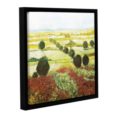 Brushstone Wildflower Valley Gallery Wrapped Floater-Framed Canvas Wall Art