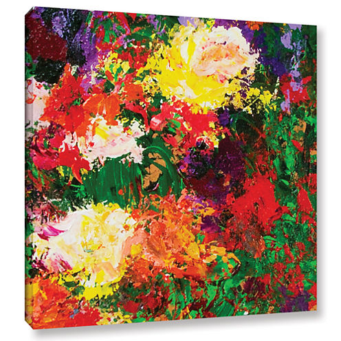Brushstone Wisteria And Roses Gallery Wrapped Canvas Wall Art