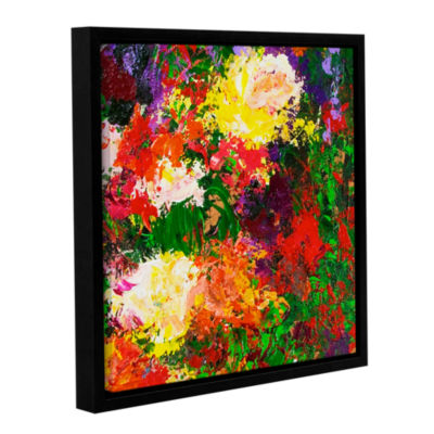 Brushstone Wisteria And Roses Gallery Wrapped Floater-Framed Canvas Wall Art
