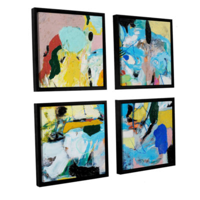 Brushstone World Of Action 4-pc. Square Floater Framed Canvas Wall Art