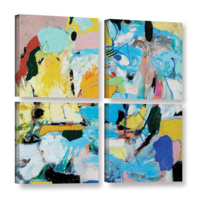 Brushstone World Of Action 4-pc. Square Gallery Wrapped Canvas Wall Art