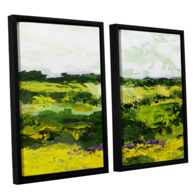 Brushstone White Hill 2-pc. Floater Framed CanvasWall Art
