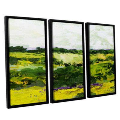 Brushstone White Hill 3-pc. Floater Framed CanvasWall Art