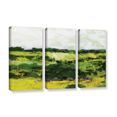 Brushstone White Hill 3-pc. Gallery Wrapped CanvasWall Art
