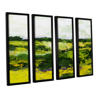 Brushstone White Hill 4-pc. Floater Framed CanvasWall Art