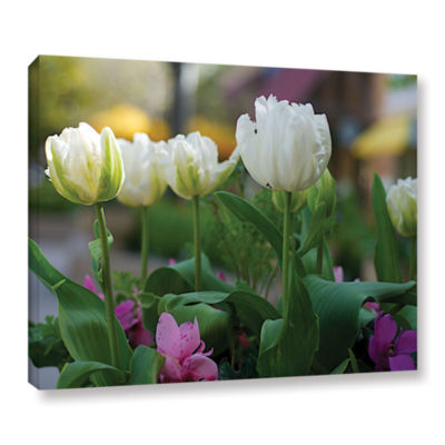 Brushstone White Tulips Gallery Wrapped Canvas Wall Art